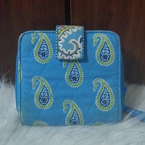 Vera Bradley Mini Zip Wallet Bermuda Blue Teal